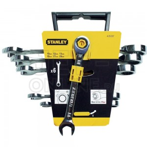 Ключ MAXI DRIVE с храповым механизмом -набор 6шт.