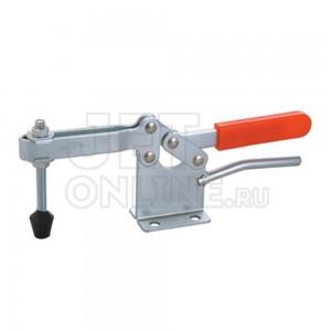 Зажим механический с горизонтальной ручкой GH-200-WLH, усилие 400 кг, прижим 110 мм, база 79 мм