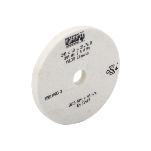 Круг шлифовальный 200x19x31,75A35A80I8V84 40m/s (JPSG-1020AH) белый
