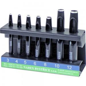 Набор из 7 пробойников на подставке 3, 4, 5, 6, 8, 10, 12 мм