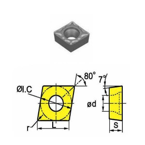 Сменная твердосплавная пластина CCMT060208-HM/SD4115